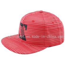 Coton Twill Flat Bill Snapback Print Broderie Baseball Cap (TMFL6345)
