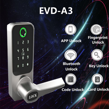 Mobile phone Remote control fingerprint door lock