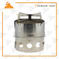 Portable stainless steel Outdoor Camping Wood Burning Stove