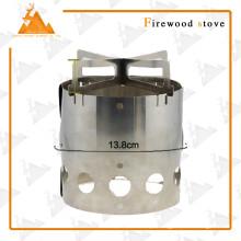 Portátil aço inoxidável exterior Camping Wood Burning fogão