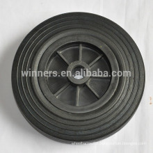 8 inch solid rubber plastic dustbin wheel