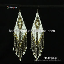 handmade seed bead earring