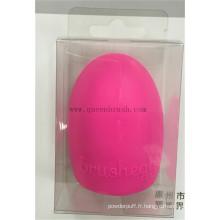 Nettoyant pour oeufs pour brosse en silicone personnalisé pour brosse à maquillage cosmétique