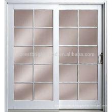 Porta do escritório interior design simples com janela de vidro