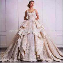 Vestido De Noiva Lace Cap Sleeves Appliques Robe De Mariage Vestido De Novia Sexy Bride Ball Gown Vintage Wedding Dresses MW956