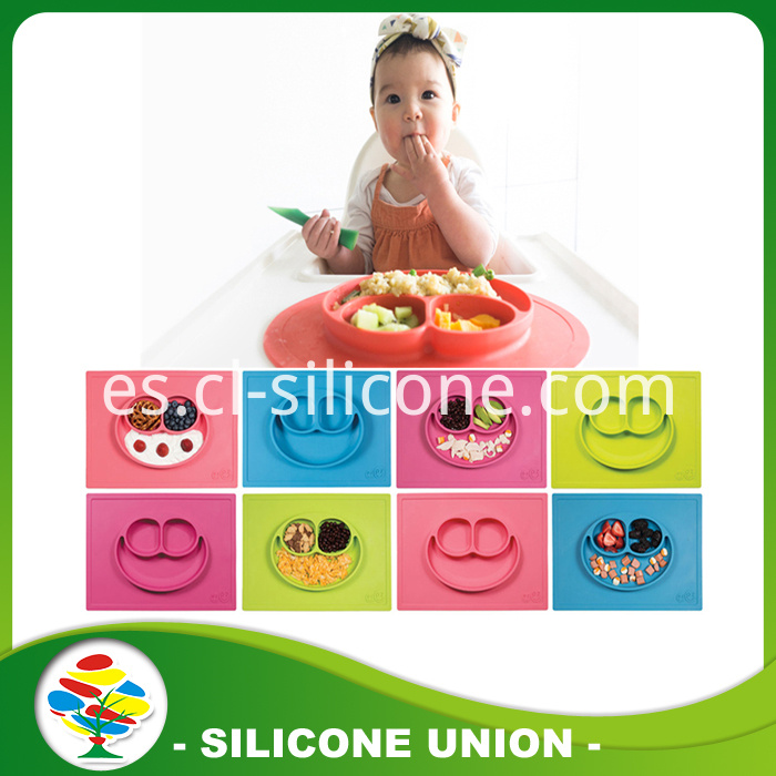 Funny silicone baby placemat