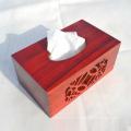 caja de pañuelos faciales artesanal de madera para decoración del hogar