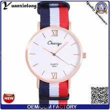 Yxl-488 Hecho en China Hombre OEM Logotipo Personalizado Thin Nylon Reloj Hombres Casual Sport Par Relojes