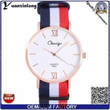 Yxl-488 Сделано в Китае мужчина OEM подгонял Логос тонкий нейлон часы мужчины Повседневная спортивные часы пара