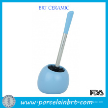 High Quanlity Blue Ceramic Toilet Brush Holder