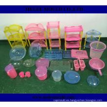 Moldeo por inyección plástico de China para las piezas de la cesta
