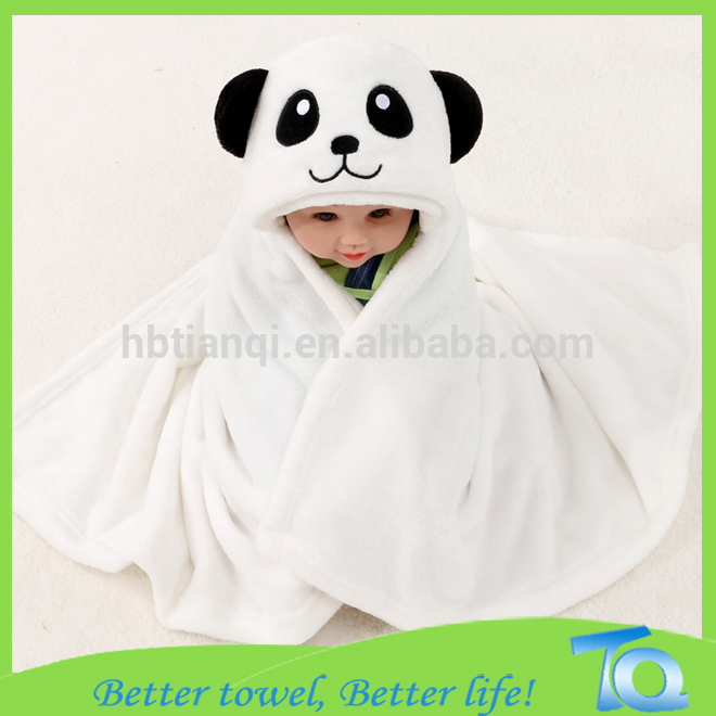 Baby Wrap Hooded Towel With Bear Ears Hypoallergenic