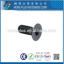 Feito em Taiwan Flat Head Torx M2.5X3 com fio de zinco preto formando parafuso de rosca