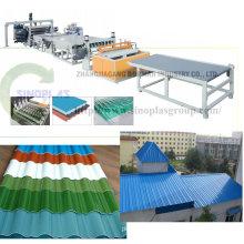 Línea de azulejos de techo de plástico