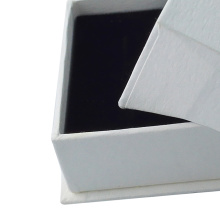White cardboard jewelry packaging box