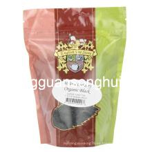 Bolsa de té negra orgánica de plástico / Stand up bolsa de té