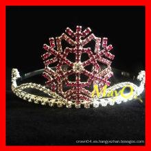 Corona de la tiara del desfile del copo de nieve de la belleza