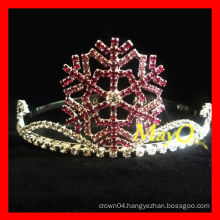 Beauty snowflake pageant tiara crown