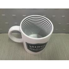 Taza completa de la impresión de la etiqueta, taza de cerámica promocional