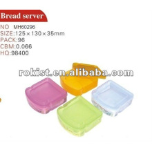 storage, container, colorful plastic bread server
