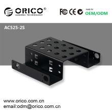 """5.25 """"CD-ROM, 2pcs 2.5"""" HDD / SSD Rack de la impulsión dura"""