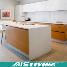 Padrão australiano dos armários de cozinha do revestimento da melamina da porta do PVC (AIS-K728)