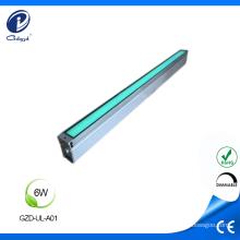Carcasa lineal de aluminio de 6W con luz subterránea para exterior.