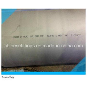 Tuberías de acero inoxidable dúplex ASTM A790 S31803 de 24 pulg.