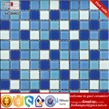 China supply mix color glass bathroom blend crystal mosaic tile for wall