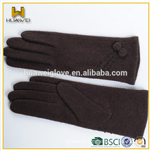 Women winter wearing sheep wool gloves lady wool knitted glove