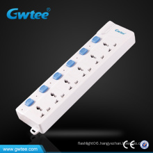 6 gang universal muti switch plug socket