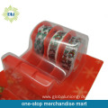 5PCS stationery tapes with 5pcs tape dispenser set