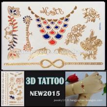 OEM gros nouveau style de tatouage 3D imperméable tatouage autocollant belle conception pour le corps YH 024