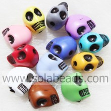 ODM for Evil Eye Beads Fashion 10*13MM Carved Skull Crystal Plastic Tiny beads export to Peru Supplier