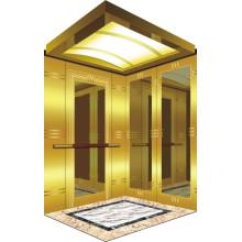Salle de machines Ascenseur pour passagers avec ascenseur de luxe Décoration de voiture Chine pour suites