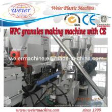 Shj-75 machine à granuler en plastique en bois et composite WPC