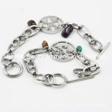 Jóias personalizadas de pulseira de aço inoxidável