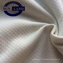 Tissu en maille papillon brossé 100% polyester pour vêtement