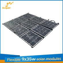 9 * 35W Sunpower flexibles tragbares Sonnenkollektor