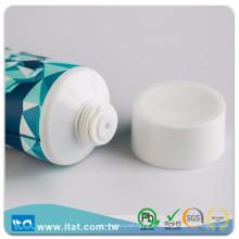 Fabricante de Taiwán más vendidos cuello crema tubo de plástico redondo