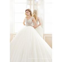 Robe de mariée en cristal tulle boule