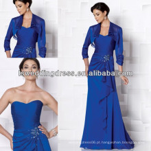 HM2019 Moda casaco de manga longa mãe de azul royal dos vestidos de noiva