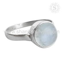 New Shiny Rainbow Moonstone Silver Ring en gros 925 bijoux en argent sterling bijoux indiens faits à la main en argent