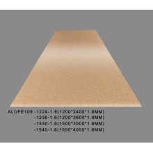 1200*2400*1.6mm Metallic Brass Gold Aluminum sheet