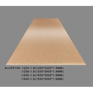 Feuille d'aluminium d'or en laiton métallique de 1200 * 2400 * 1.6mm