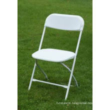 Top Sell Plastic Folding Chair with Reinforced Steel Frame