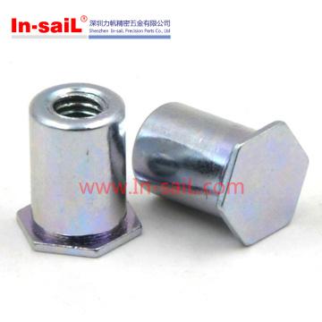 Zinc Plated Steel Self Clinching M6 Blind Standoffs