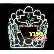 Novo design ornamental maçã rhinestone cidade tiara coroa