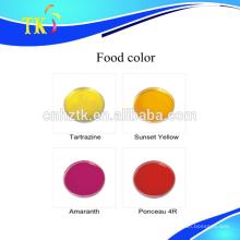 Cor de alimento para decorar flores de frutas alimentares