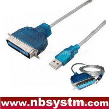 USB a paralelo Cable de impresora de Centronics de 36 pines Cable